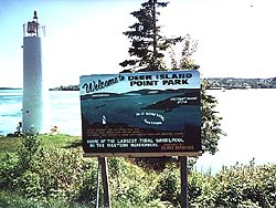 Deer Island Point Park welcome sign